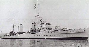 Arethusa-class cruiser (1934) - Image: HMS Galatea AWM 302395