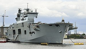 HMS Ocean (L12) - HMS Ocean deployed for the 2012 Olympic Games