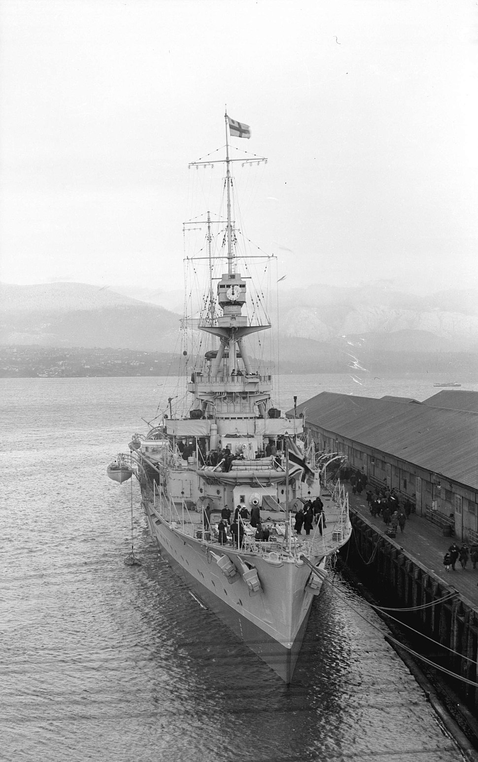 HMS Raleigh at Vancouver 1921