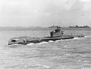 HMS Tireless (P327) - HMS Tireless at sea, May 1945. © IWM (A 29284)