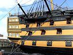 HMS Victory (ship, 1765) - stern view.JPG