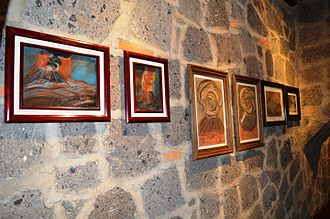 Dr. Atl - Works by Dr Atl at the Hacienda Santa Clara Study and Research Center in San Miguel Allende