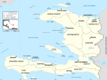List Of Natural Disasters In Haiti Wikipedia - Haiti political map 1999