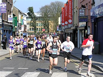 English: Half-marathon, Omagh Not far from the...