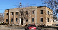 Hamilton County Courthouse (Kansas) from SW