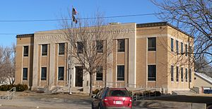 Hamilton County, Kansas - Image: Hamilton County Courthouse (Kansas) from SW