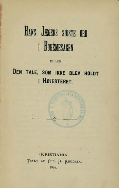 File:Hans Jægers sidste ord i bohêmesagen.djvu