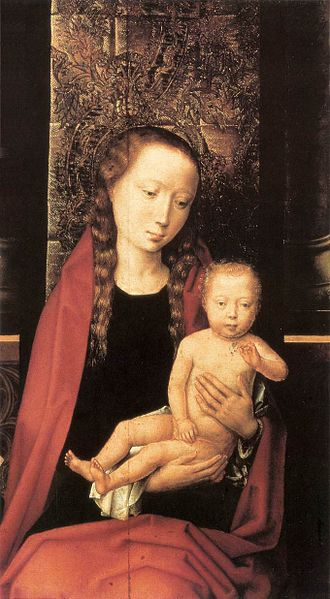 File:Hans Memling - Virgin and Child Enthroned (detail) - WGA14915.jpg