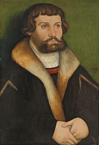 Hans Cranach - Portrait of a man, 1534, now at the Thyssen-Bornemisza Museum
