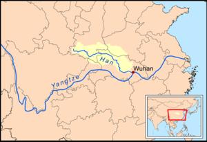Hanshui - Image: Hanshuirivermap