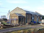 Harwich Town goods shed and train ferry gantry.JPG