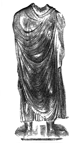 "Yavana era - Statue of the Buddha of Hashtnagar, inscribed of ""the year 384"", which is now thought to be in the Yavana Era, corresponding to 209 CE."