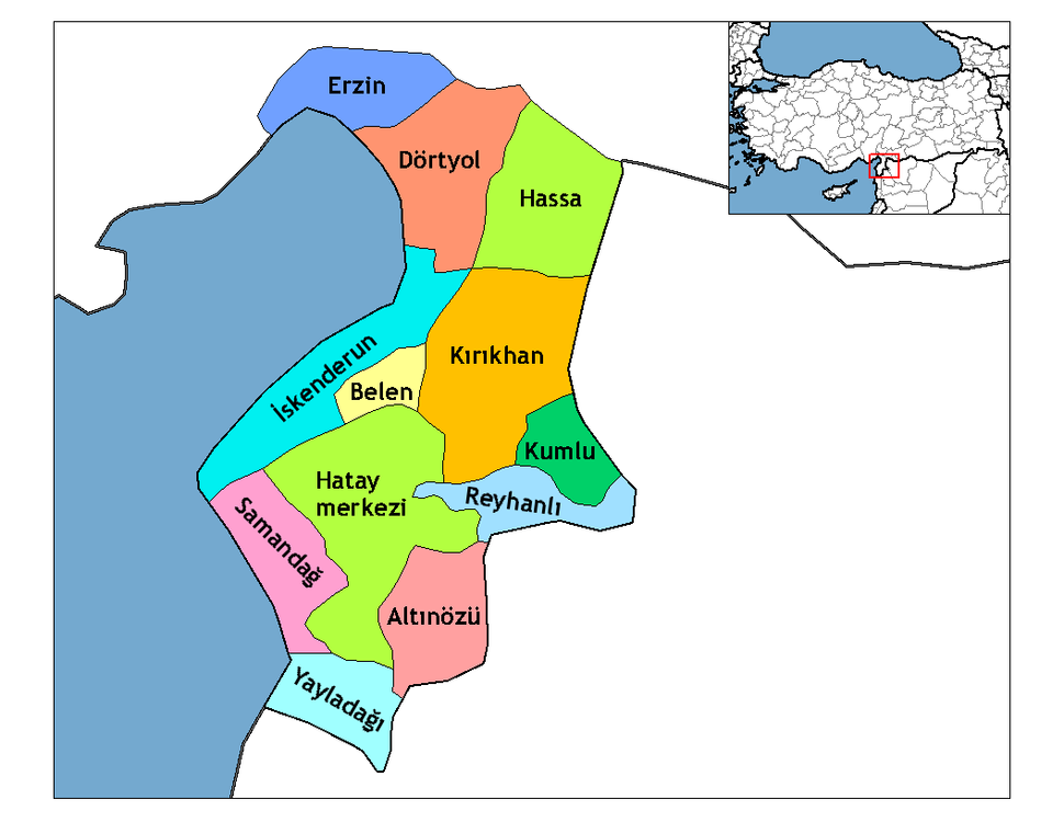 Hatay districts