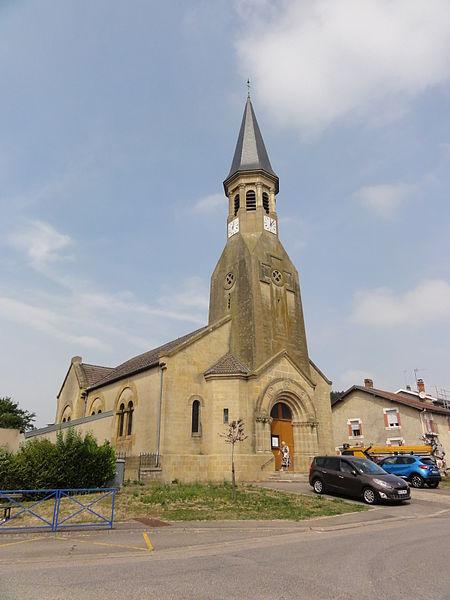 Haudiomont (Meuse) église Saint-Urbain extérieur