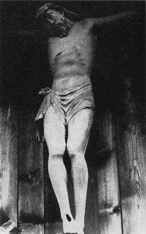 St. Oswald's Chapel (Höllental) - The lost cross of  Georg Hauser