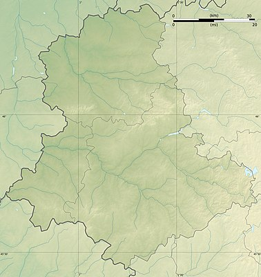 Location map France Haute-Vienne