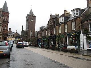 Crieff town in Scotland