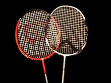 Heads of badminton raquets.jpg