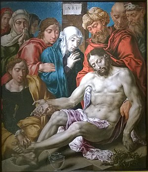 Lamentation of Christ (Heemskerck) - Image: Heemskerck lamentation WP 20161201 059