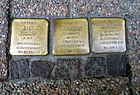 Hehlentorstraße 14 Celle Stolperstein Julius Wexseler deportiert 1944 KZ Sachsenhausen Anna 1882 Meinecke Ravensbrück ermordet 5.2.1945 Alexander 1906 1938 Buchenwald 1942 Salaspils.jpg