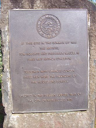 Beaumaris, Victoria - Commemorative plaque near the foreshore.