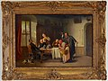 Heinrich Franz Gaudenz von Rustige , Gemälde, unerwarteter Besuch, D1895.jpg