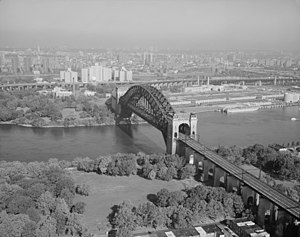 Hell Gate - Hell Gate Bridge with Queens in the foreground