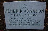 Hendrik Adamson haud.jpg