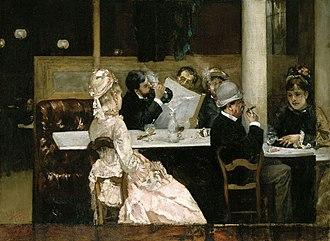 Henri Gervex - Image: Henri Gervex Cafe Scene in Paris 1877