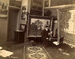 Henri Harpignies in his studio.jpg