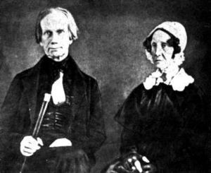Amos Kendall - One of the few images of Lucretia Hart Clay, depicted with her husband, Henry Clay