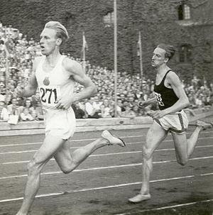 Henry Eriksson - Henry Eriksson (left) and Lennart Strand at the 1947 national championships