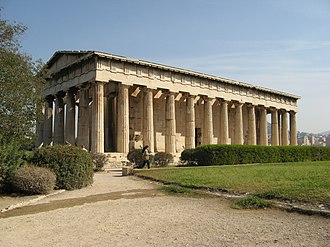Classical Athens - The Temple of Hephaestus in modern-day Athens