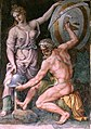 Hephaistos forging Achilles' Armor by Giulio Romano ca. 1492-1546 from the Sala di Troia Palazzo Ducale Mantua390b838898909863f455a7027d99affb.jpg