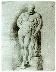 Hercules Farnese, set forfra