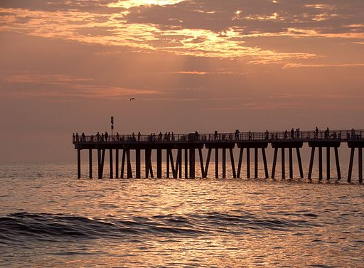 Hermosa beach summer sunset surf
