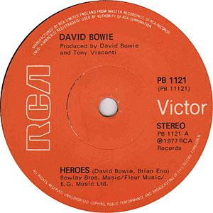 """Heroes"" (David Bowie song) - Image: Heroes by David Bowie UK vinyl single"