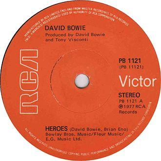 """""""Heroes"""" (David Bowie song) - Image: Heroes by David Bowie UK vinyl single"""