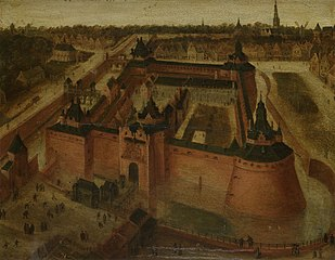 Bird's-eye View of the Vredenburg (Vredeborch) Castle in Utrecht