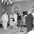 Het koninklijk paar hoort de toespraak van de heer Alvarz Correa aan tijdens de , Bestanddeelnr 252-3598.jpg