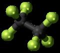 Hexafluoroethane 3D ball.png