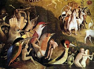 Hieronymus Bosch, Garden of Earthly Delights tryptich, centre panel - detail 6.JPG
