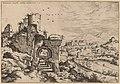 Hieronymus Cock, Ruins on the Palatine, Looking toward the Baths of Caracalla, probably 1550, NGA 91342.jpg