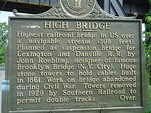 High Bridge of Kentucky - High Bridge Historical Marker