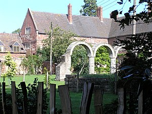 High Ercall - High Ercall Hall (old 16th century building) with arches from demolished 1608 building.