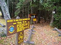 High Peaks Trailhead and Mileage sign - panoramio.jpg