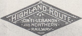 Cincinnati, Lebanon and Northern Railway - Image: Highland Route logo