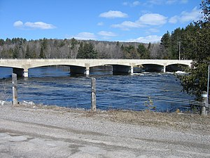 Ontario Highway 41 - Highway 41 crosses the Madawaska River near Griffith on a multi-span concrete rigid arch bridge.