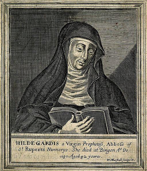 Hildegard von Bingen. Line engraving by W. Marshall. Wellcome V0002761