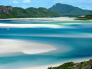 Hill inlet, Whitsunday Island, Queensland, Aus...